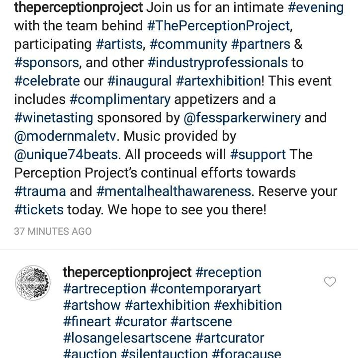 11.17 Join us for a very worthy cause ..beyond honored in providing the soundtrack.. Repost @theperceptionproject #theperceptionproject #modernmaletv #fessparkerwinery #djaski #unique74